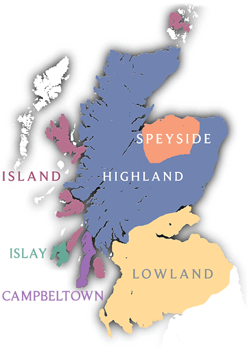 scotch whisky map regions of scotland