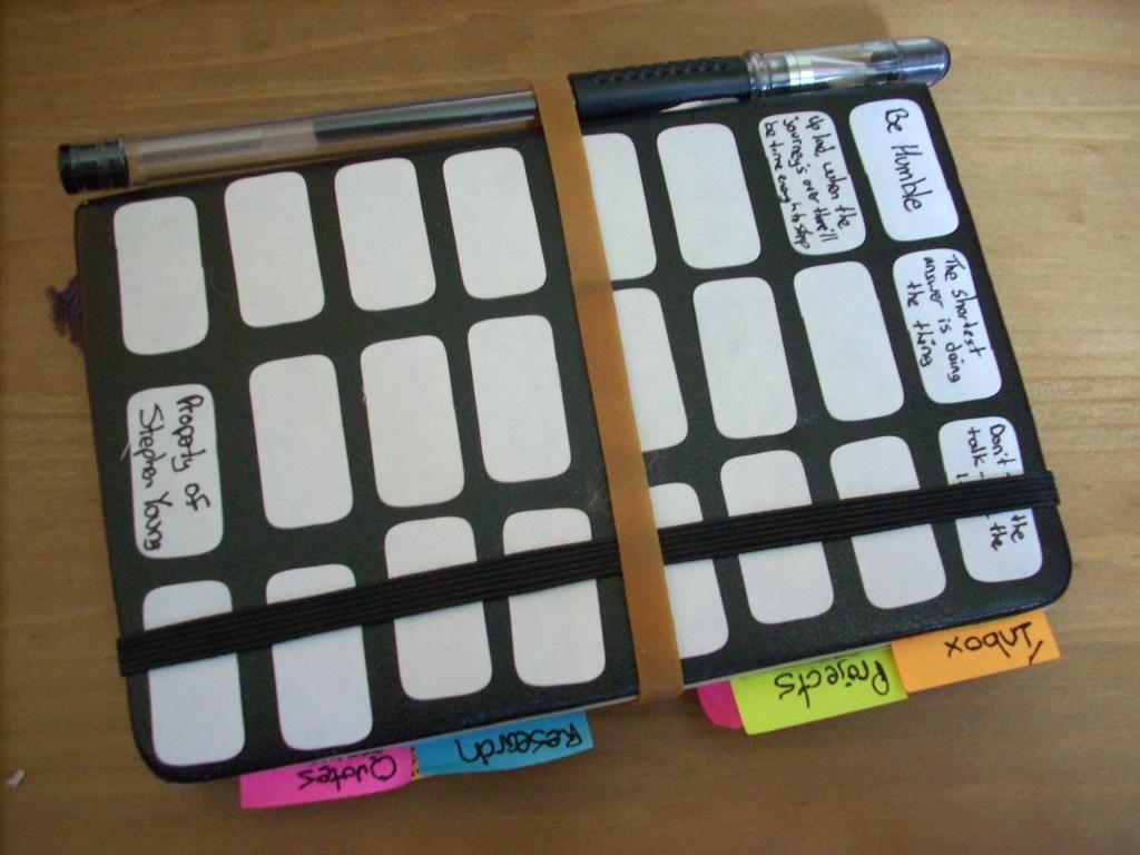 Homemade moleskine notebook.