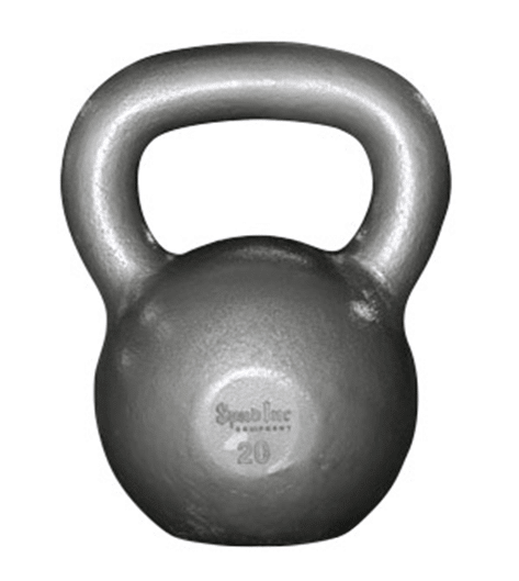 Kettlebell fitness equipment.