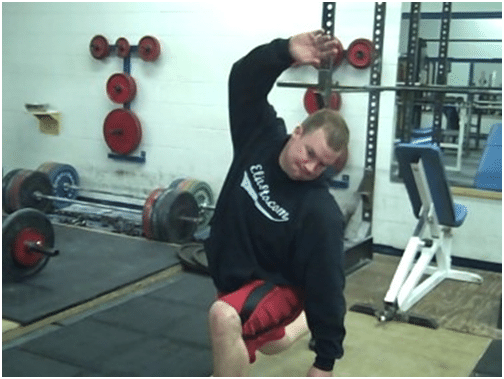 Man doing exercise for losing bodyweight.
