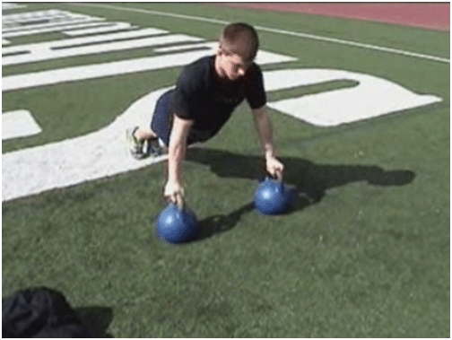 kettlebell push up how to exercise routine workout