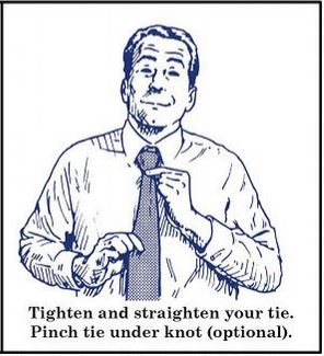 how to tie four in hand necktie knot