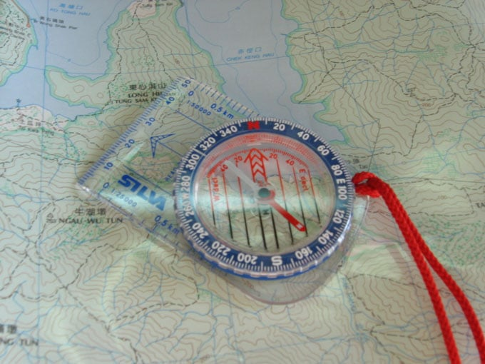 Baseplate Compass style lying on map