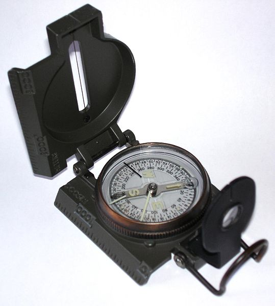 Liquid Filled Lensatic compass style for military navigation tool.
