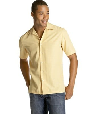 men's button down short sleeve shirt african american