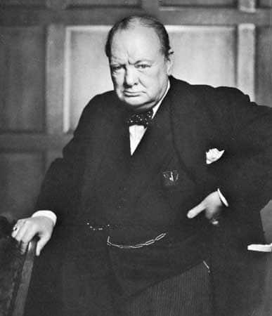 Winston churchill portrait prime minister uk scowl face.