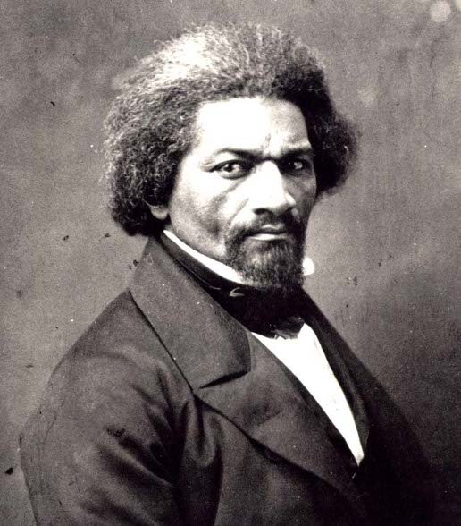 older frederick douglass portrait graying hair goatee