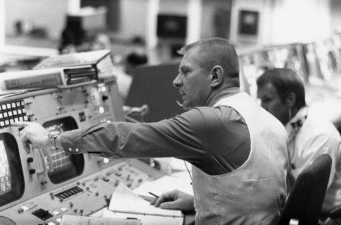 Gene Kranz NASA mission controller Apollo moon.