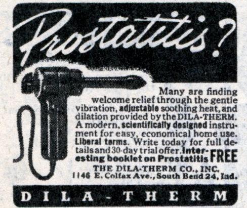 vintage ad advertisement dila-therm prostatitis men's product