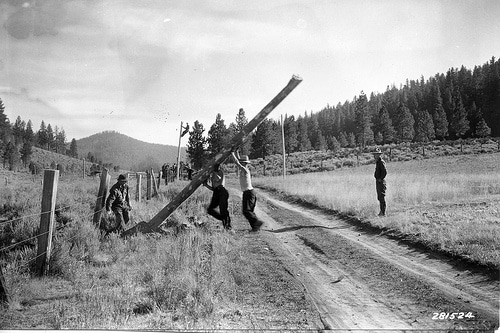 civilian conservation corps oregon vintage men working