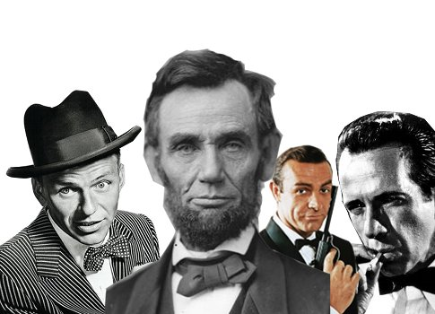 men in bowties collage montage sonatra lincoln bond
