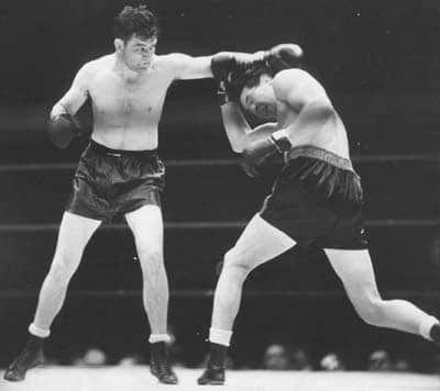 james Braddock max Baer boxing match dodging punch
