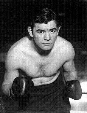 James J Braddock's portrait in boxing getup.