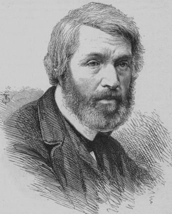 Thomas Carlyle drawing engraving mid-1800s