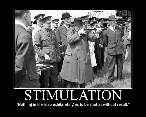 winston churchill being shot at quote motivational poster