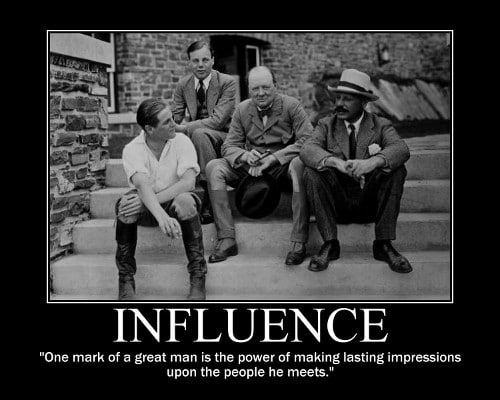 winston churchill influence lasting impressions quote motivational poster