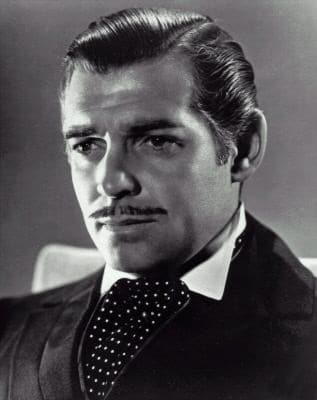 clark gable actor headshot famous mustache facial hair