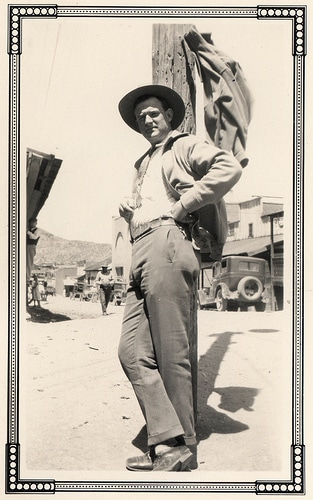 vintage lawman in arizona 1920s dessert