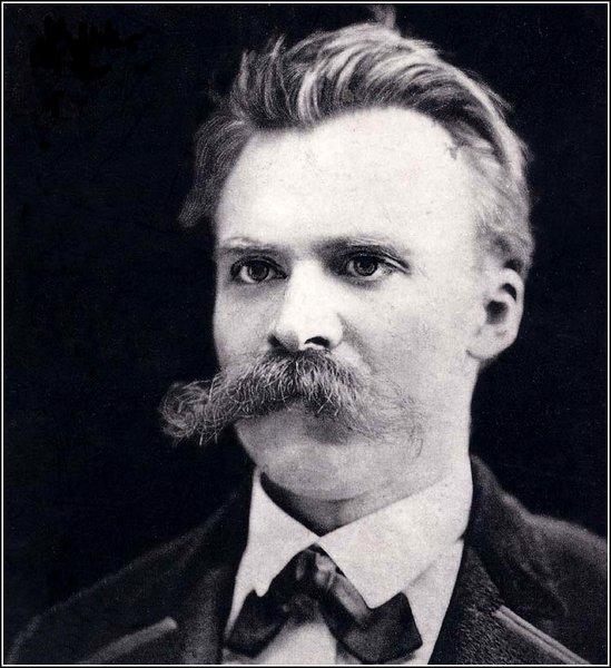 Friedrich Nietzsche's portrait showing mustache.