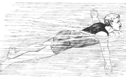 vintage 1940s swimming illustration military manual