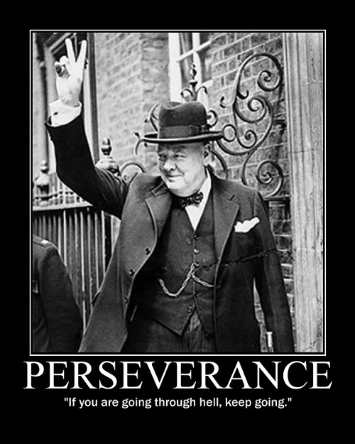 winston churchill going through hell quote motivational poster