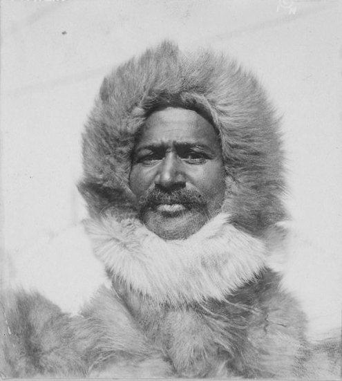 matthew henson arctic explorer wearing parka