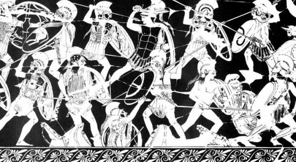 warriors thebes ancient greece illustration engraving