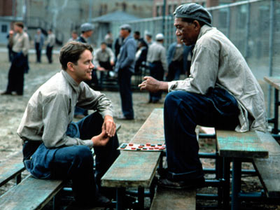 shawshank redemption movie tim robbins morgan freeman