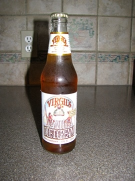 virgil's diet vanilla cream bottle soda review