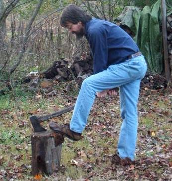 how to split wood firewood remove axe from log