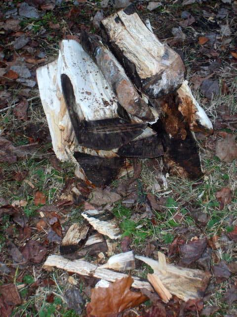 bundle of firewood how to split wood