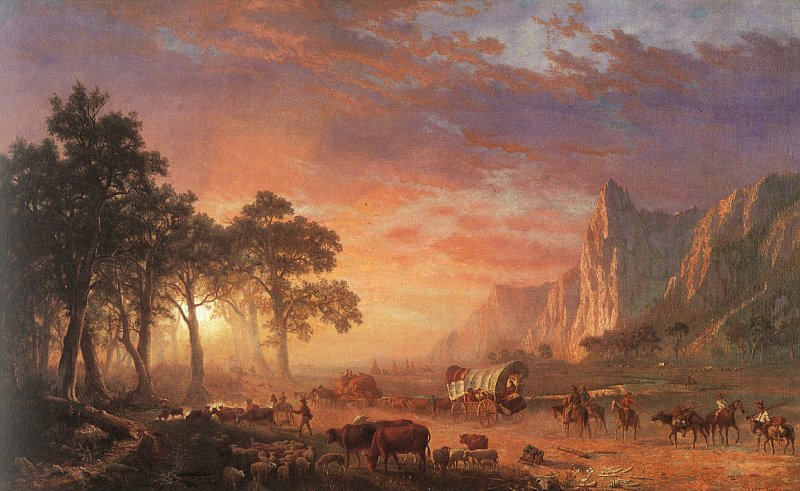 albert bierstadt painting oregon trail wild west