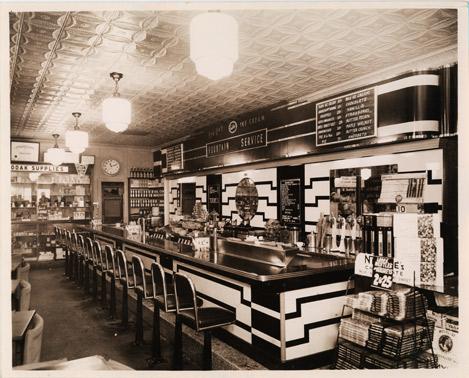 vintage soda fountain empty bar pop reviews