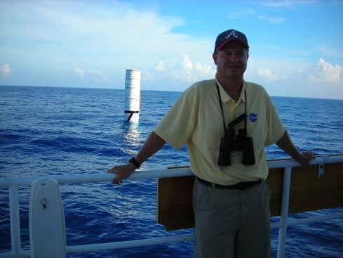 Davy Haynes on board the NASA recovery ship Liberty Star