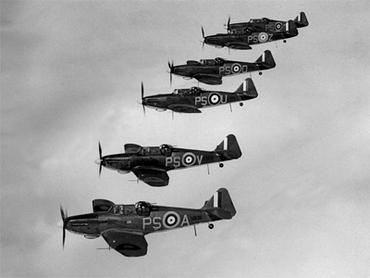 Britain airplanes flying in formation.