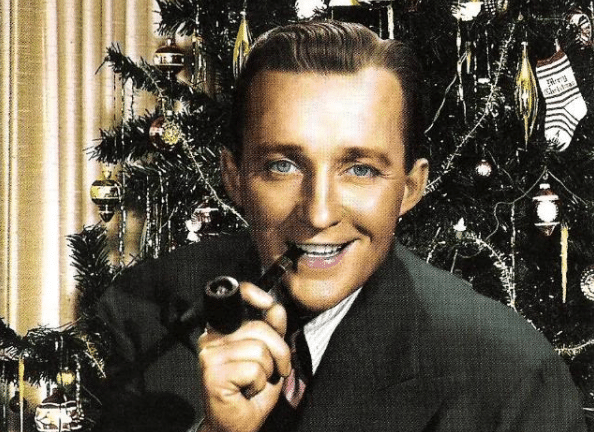 bing crosby smoking a pipe christmas tree