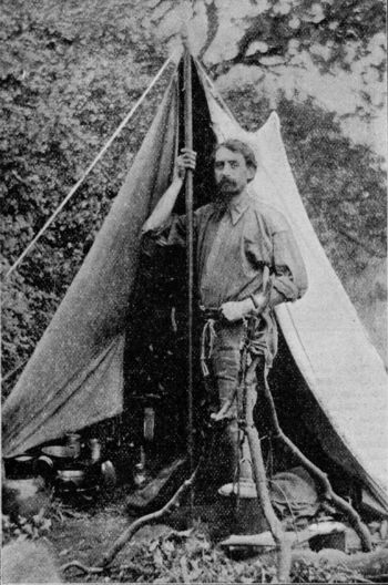 millican dalton in front of tent late 1800s