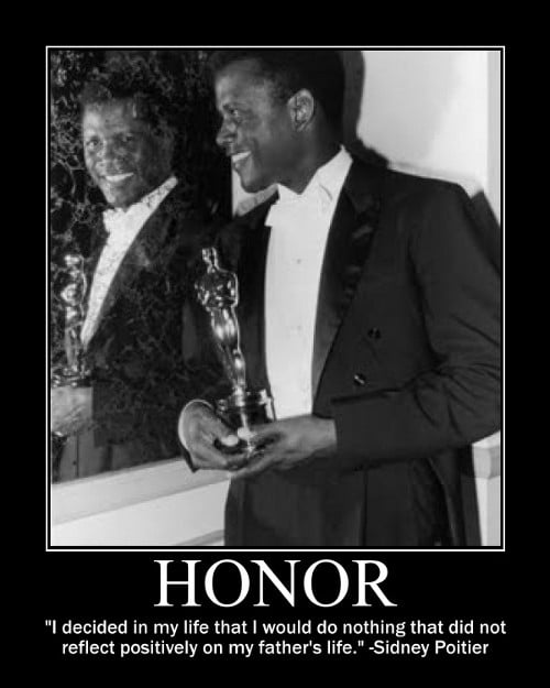sidney poitier father honor quote motivational poster