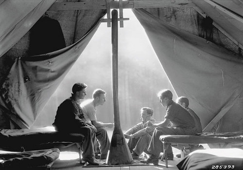 Civilian Conservation Corps men in tent