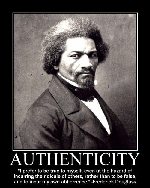 frederick douglass true to myself quote motivational poster