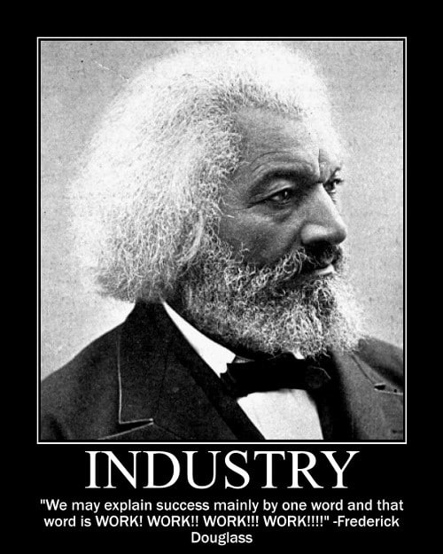 frederick douglass work success quote motivational poster
