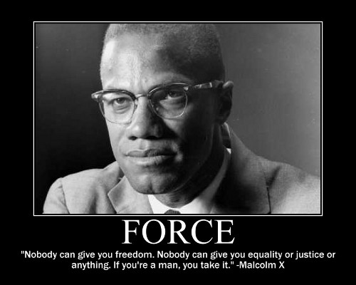 malcolm x freedom take it quote motivational poster
