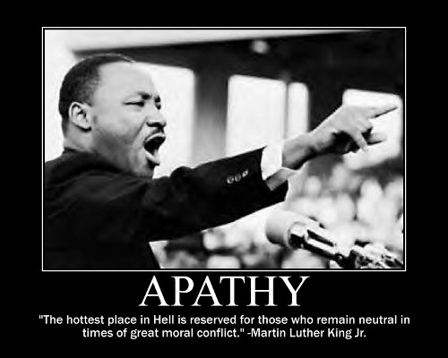 mlk martin luther king apathy conflict quote motivational poster