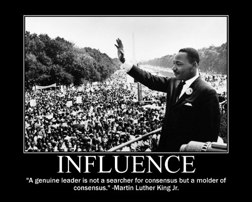 mlk martin luther king leader quote motivational poster