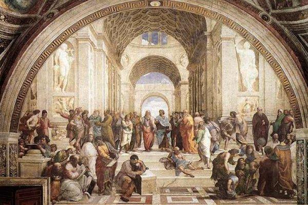 Raphael school of athens illustration.