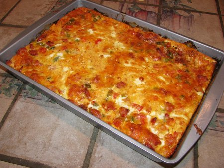 cajun breakfast casserole hearty winter meal