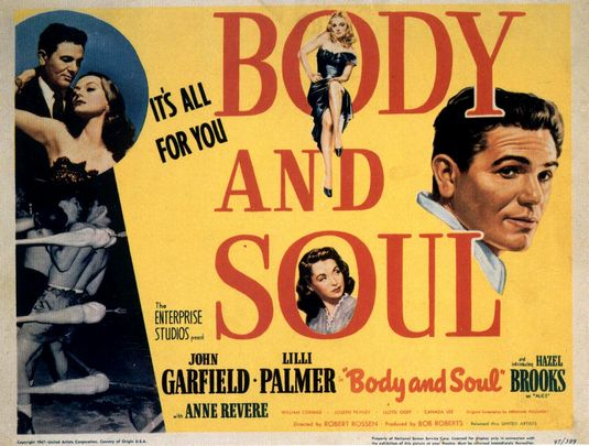 body and soul movie poster best boxing films