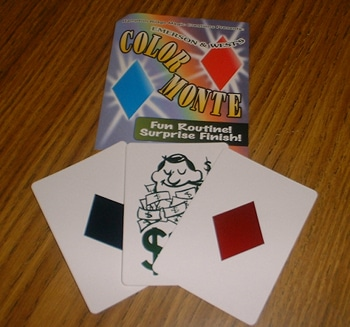 color monte magician magic tricks tools