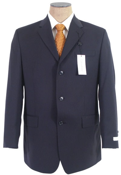 navy 3 button suit jacket no waist suppression