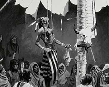 Mandan indians Hook Hanging male rite of passage